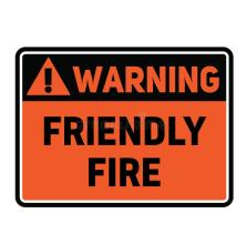 warning-friendly-fire-sign-fictitious-realistically-looking-142132894